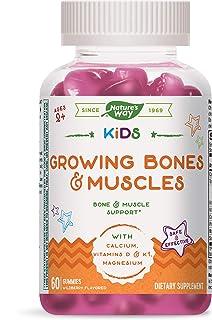 Nature's Way Kids Growing Bones & Muscles, Calcium & Vitamin D, Ages 4+ Wildberry Flavor, 60 Gummies