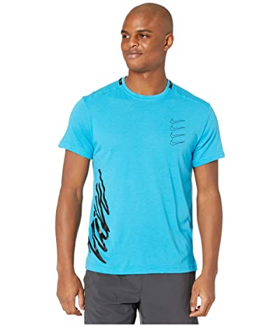Nike Top Short Sleeve PX (Laser Blue/Lemon Venom/Black) Men