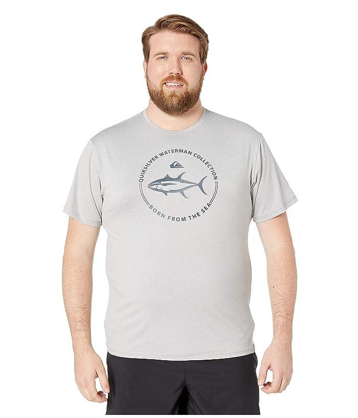 Quiksilver Waterman Watermark Short Sleeve Rashguard (Grey Marl) Men