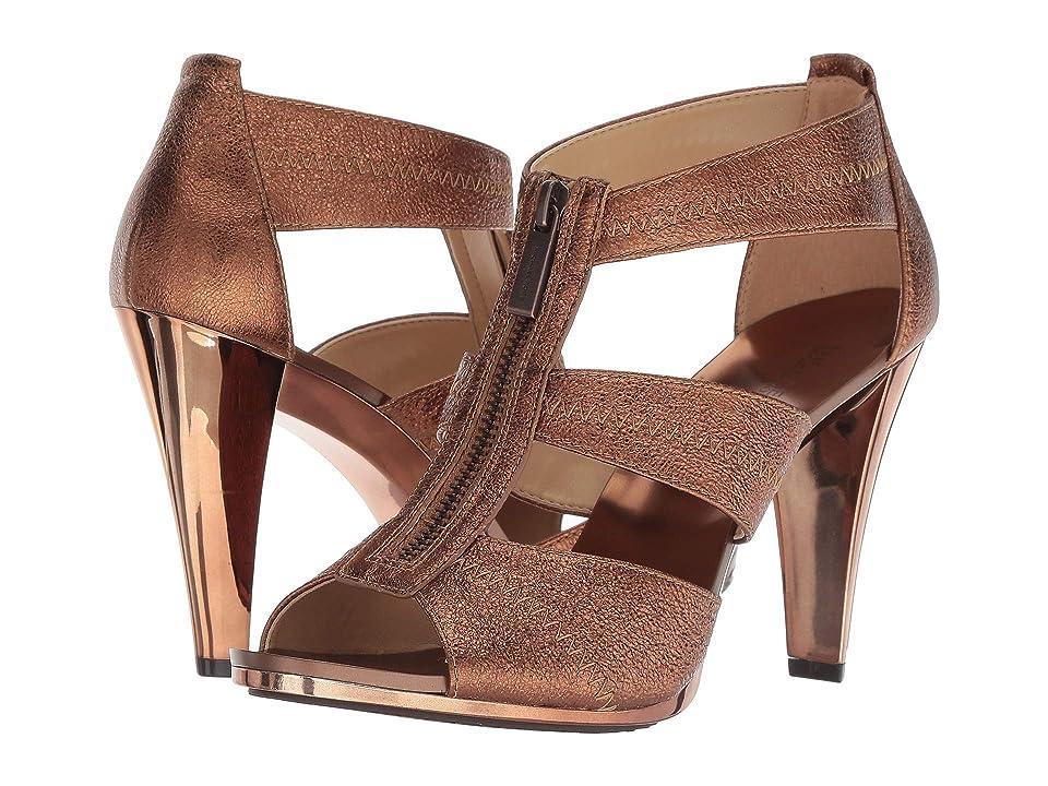 MICHAEL Michael Kors Berkley T-Strap (Bronze Sparkle Metallic) High Heels