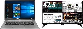 LG 4Kモニター 43UD79T-B 42.5インチ+ LG gramノートパソコン17インチ17Z990-VA76Jセット