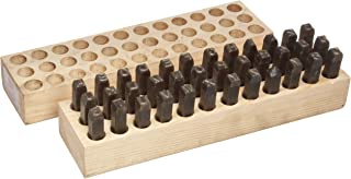 Young Bros 08361 36 Piece Machine Made Stamp Combination Letter and Figure Set, Steel, 3/8