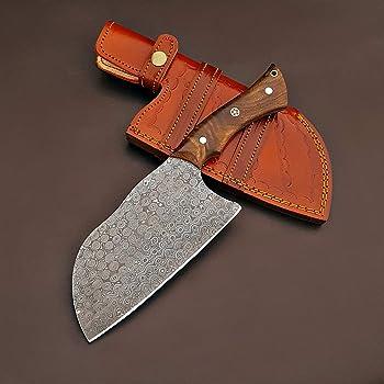 Handmade Damascus Steel Butcher Serbian Cleaver Chopper Knife Rain Drop Pattern 11 Inches VK5518
