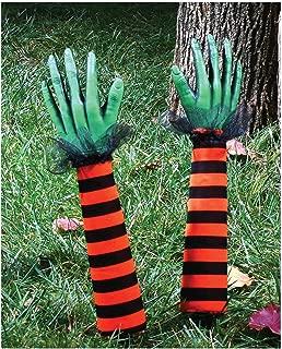 Fun World Striped Witch Arms Yard Stakes (Orange)