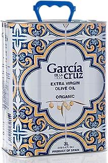 Award Winning Cold Pressed Organic Extra Virgin Olive Oil - Single Variety (Master Miller, 3 Liter Tin)
