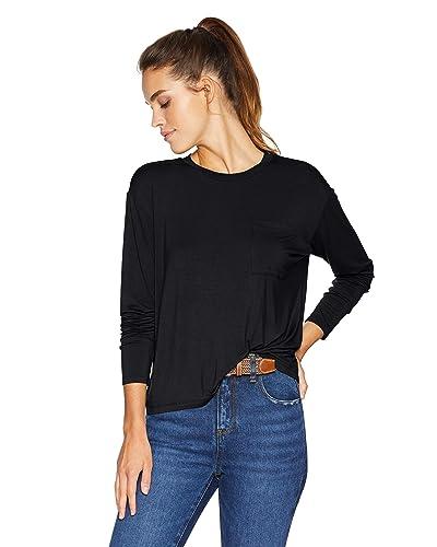 aa77e786e0d6f Black Long Sleeve Tops  Amazon.com