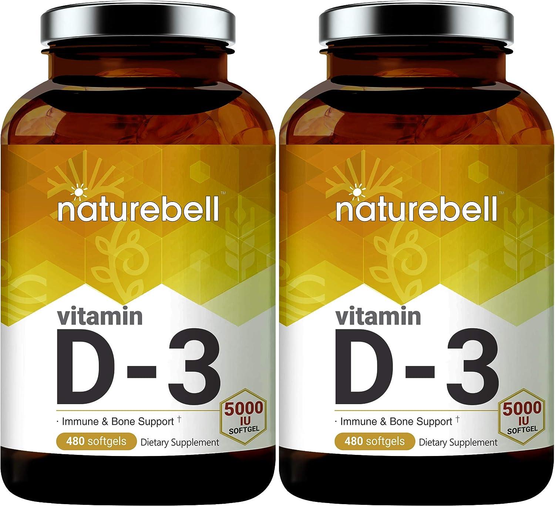 NatureBell Vitamin Cheap bargain In stock D3 Liquid Softgels IU 480 C 5000