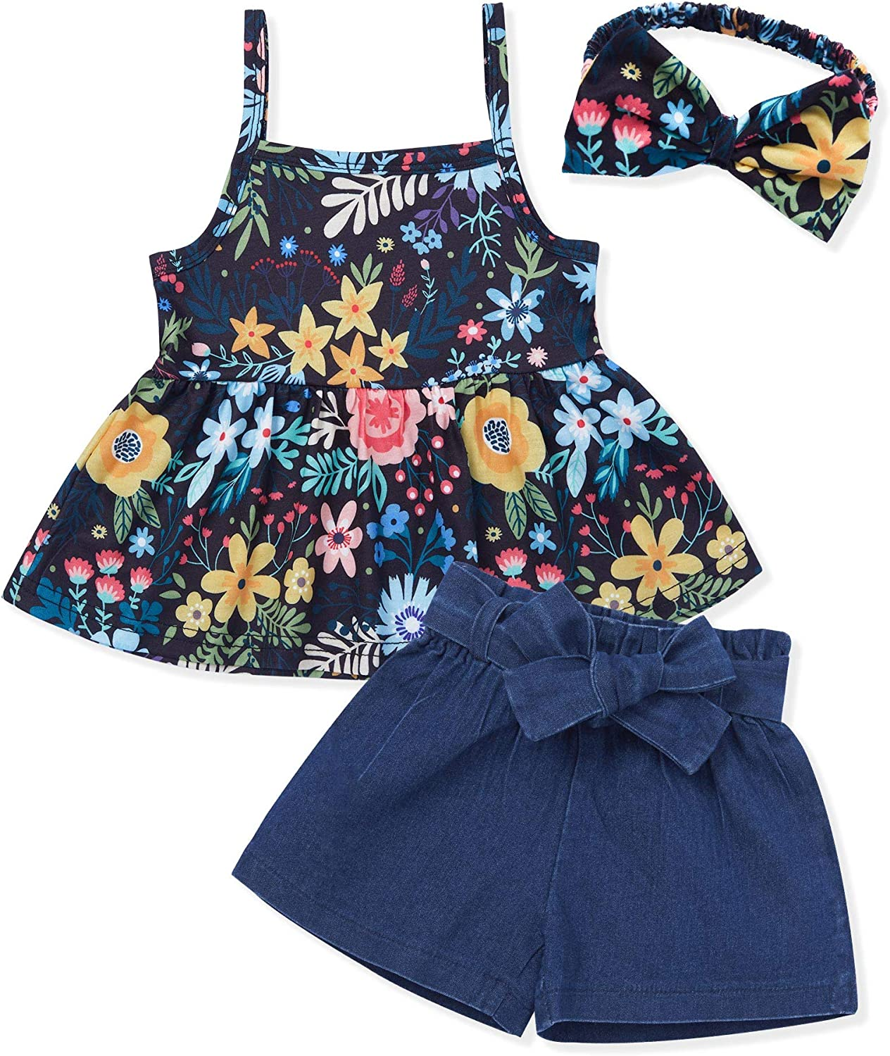 shopping Bombing free shipping Newborn Infant Baby Girl Clothes Daisy Summer Floral Sleeveless
