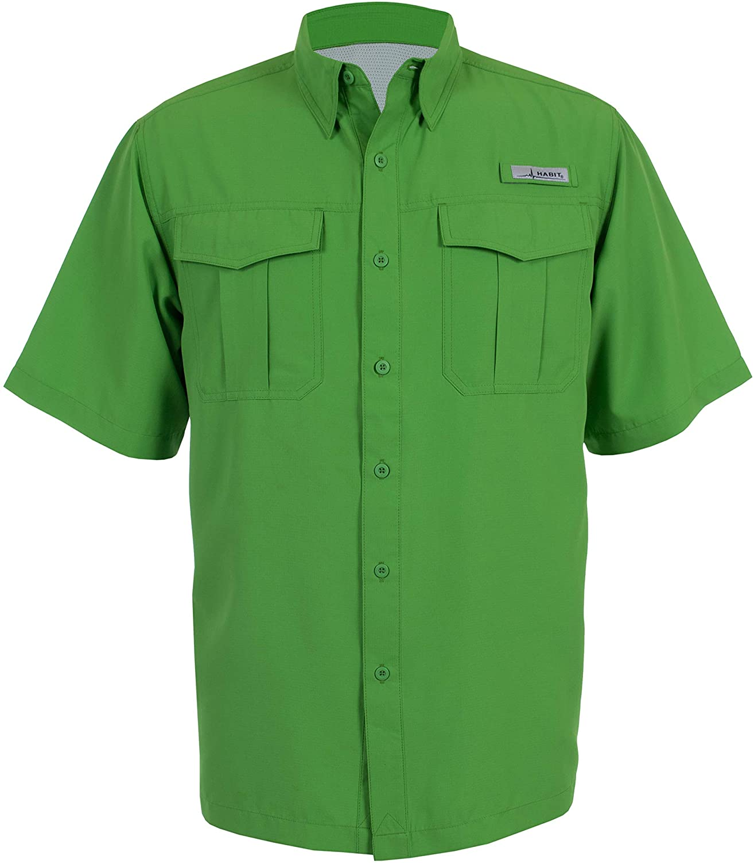 HABIT Men's Belcoast Short Sleeve River Guide Fishing Shirt