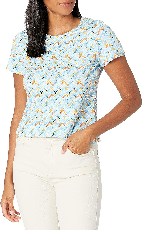 Rafaella Women's Chevron Print Short Sleeve Tee Shirt