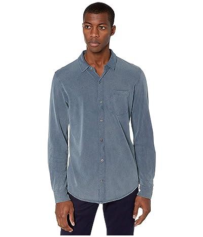 Mod-o-doc Windandsea Long Sleeve Button Front Shirt (True Navy/Stone) Men