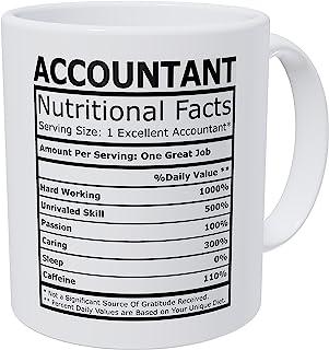 Wampumtuk Accountant CPA حقایق تغذیه ای لیوان قهوه خنده دار 11 اونس الهام بخش و انگیزشی