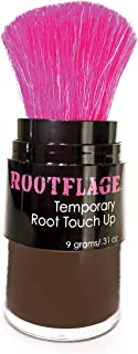 Rootflage Root Touch Up Hair Powder - Temporary Hair Color, Gray Coverage, Root Concealer, Thinning Hair Filler, Dry Shampoo, Eyebrow Filler (08 Dark Brown)