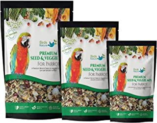 BirdsNature Premium Seed & Veggie Mix for Macaws,Amazons,Cockatoos & Exotic Birds (20kg)