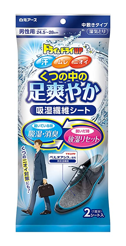 スキームハンバーガーヒントドライ&ドライUP 足爽やかシート 男性用(24.5~28cm)