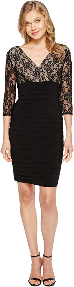 L/S Lace Band Dress