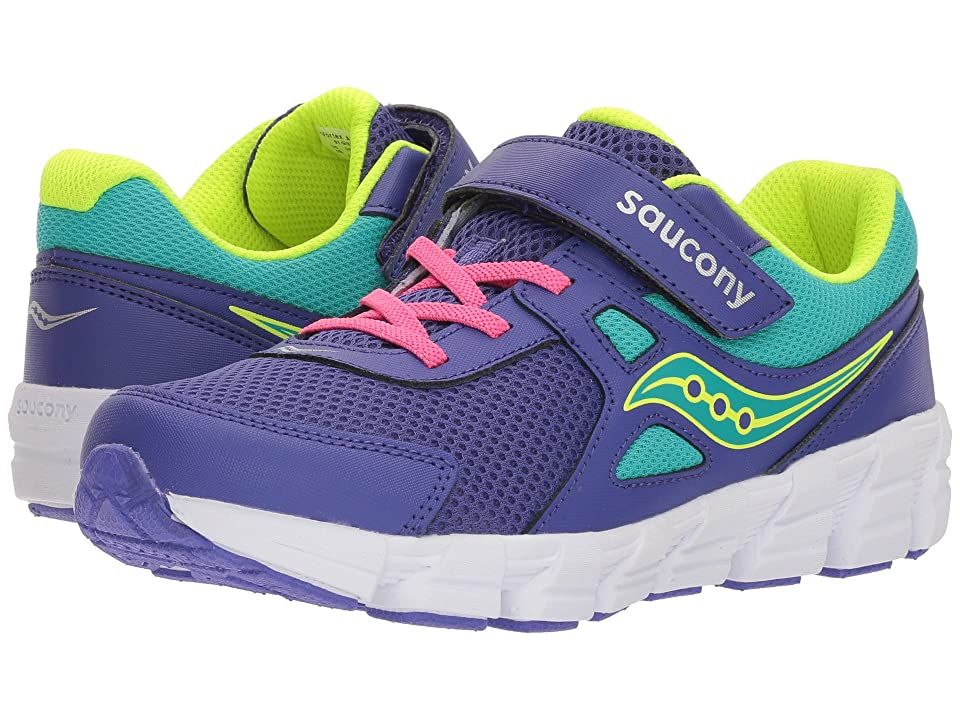 Saucony Kids Vortex A/C (Big Kid) (Purple/Citron) Girl