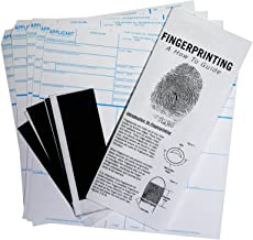 FD-258 Fingerprint Kit: 5 Cards, Ink, and Directions