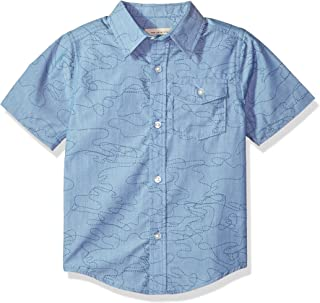 Lucky Brand Baby Boys' Short Sleeve Chambray Button Down Shirt