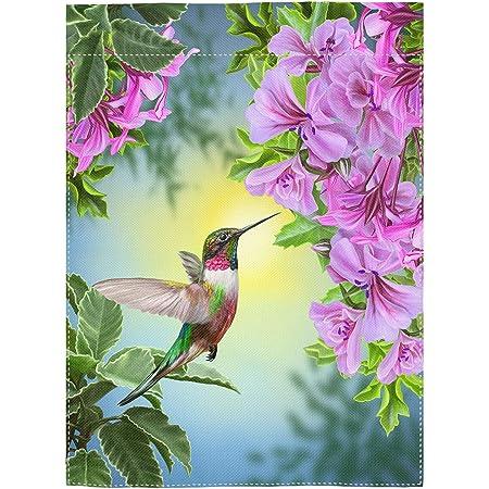Amazon Com Small Mim Hummingbird Heaven Garden Flag Holiday Decoration Double Sided Flag 12 5 X 18 Garden Outdoor