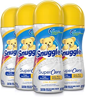 Snuggle SuperCare In-Wash Scent Booster, Lilies and Linen, 9 Ounce, 4 Count