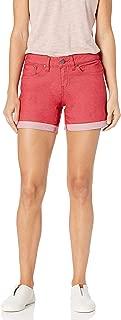 PRANA Women's Kara Denim Short, Sunwashed Red, Size 2