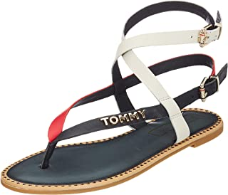 164ec95a Tommy Hilfiger Iconic Flat Strappy Sandal, Chanclas para Mujer