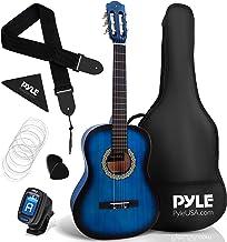 "Beginner 36"" Classical Acoustic Guitar - 3/4 Junior Size 6 String Linden Wood Guitar w/ Gig Bag, Tuner, Nylon Strings, Pic..."