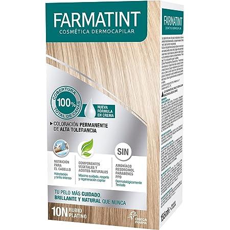 Farmatint Gel 10N Rubio Platino   Color natural y duradero ...