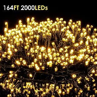 ilikable 164FT 2000 LEDs String Lights - Outdoor & Indoor Christmas Decoration Lights - 8 Modes Waterproof Fairy String Lights for Christmas Tree Party Wedding Backyard Garden Decoration, Warm White