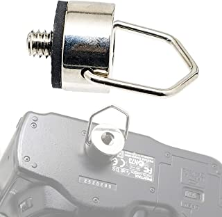 Fotasy Silver Stainless Steel D Ring Screw D Shaped Mounting Screw for Camera Strap Quick Release Rapid Shoulder Neck Sling Strap Belt for Camera DSLR SLR