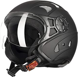 Westt Razor · Casco Moto Jet Negro Mate Scooter Vespa Chopper · Casco de Moto Motocicleta Vintage · Homologado ECE