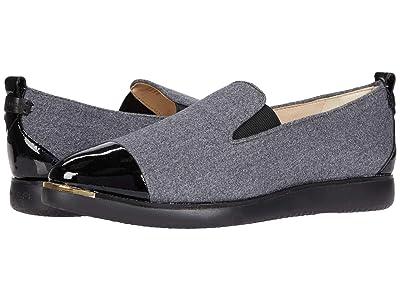 Cole Haan Grand Ambition Slip-On Sneaker (Grey Flannel/Black Patent) Women