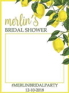 Custom Lemon Bridal Shower Photo Booth Frame - Sizes 36x24, 48x36; Lemon theme wedding, Lemon Tree Photo Prop, Bridal Shower Photo booth frame, Selfie Frame, Handmade Party Supply Photo Booth Props
