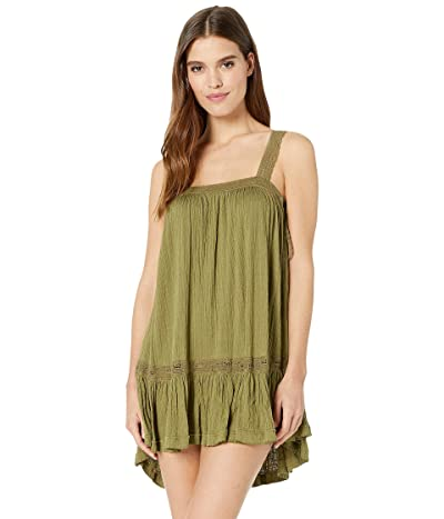 Free People Sweet Thing Tunic Dress (Moss) Women