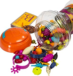 B. toys – 300 Pcs – Pop Snap Bead Jewelry Set for Kids – Pop Arty! – DIY Craft Jewelry Making Kit – Creative Necklaces, Ri...