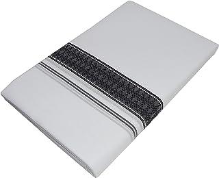 Mcr Men's Cotton Black Border/Kara Selection Dhoti/Chithra Double Mundu (White)