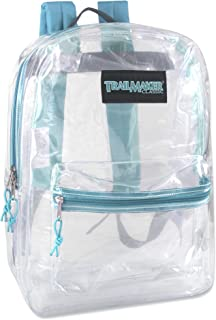 Clear Backpack With Reinforced Straps For School, Security, Sporting Events (Turq)
