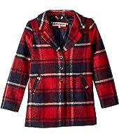 Charlotte Long Length Wool Coat (Little Kids/Big Kids)