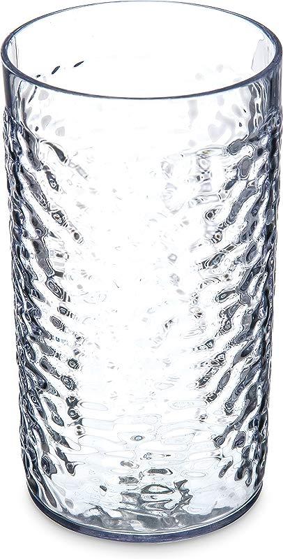 Carlisle 5517 07 16 Oz Capacity 3 Top Diameter X 5 43 Height Clear Color SAN Pebble Optic Tumbler Case Of 24