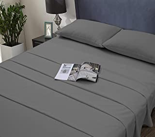 Cotton Club Essential Cotton Blend 3-Pieces Bed Sheet Set, Breathable, Fine Quality Poly Cotton. Oeko-Tex Certified 100(Textiles Tested for Harmful substances) Grey, Twin