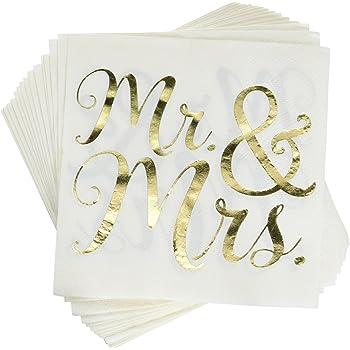 Be Married Beverage Napkins 4.75 White Hewitt 55574 Drink Hortense B
