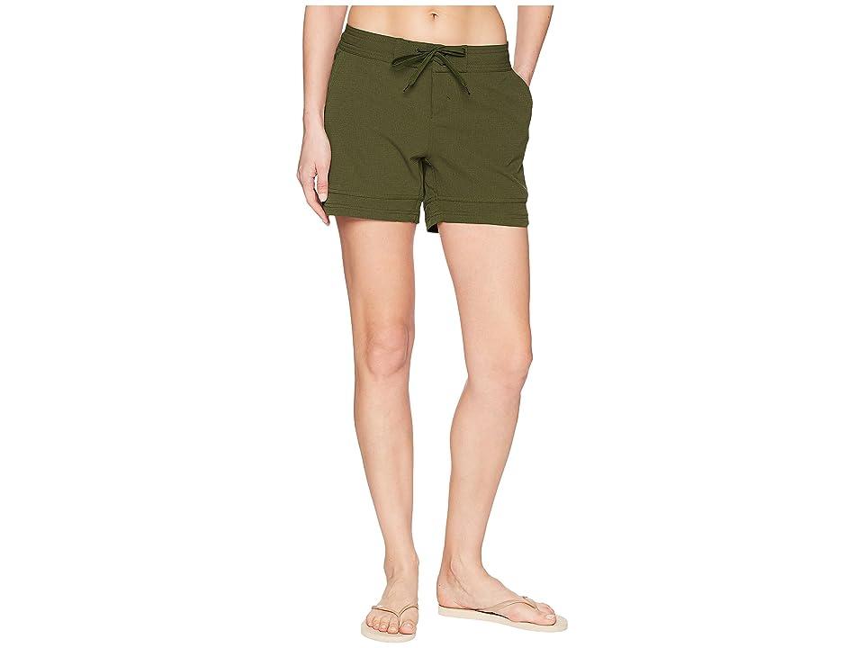 Prana Ebelie Boardshorts (Cargo Green) Women