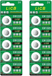 LiCB 10個入 CR1225 リチウム ボタン 電池 3V 1225 コイン形電池 水銀ゼロシリーズ