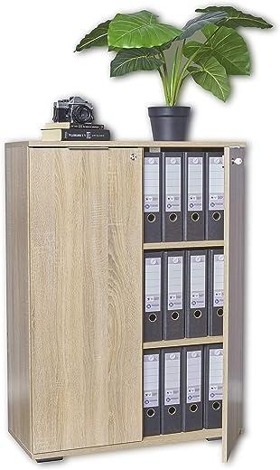 mutatio Aktenschrank Abschließbar – Kommode – Mehrzweckschrank [Optimal Für Schwere Ordner] Büroschrank – Schrank Sonoma-Eiche, ca. B80,2cm x…