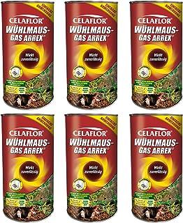 GARDOPIA Sparpaket: 6 x 250 g Celaflor Wühlmaus-Gas Arrex Maulwurf Vergrämungs Vertreibungsmittel + Gardopia Zeckenzange m...