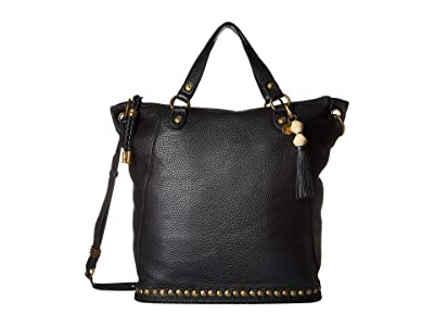 The Sak Edie Soft Tote By The Sak Collective (Black) Handbags