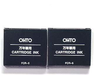 Ohto Fountain Pen Refill Cartridge FCR-6 (Blue Black) 6 cartridges × 2 Packs, Total 12 cartridges (Japan Import) [Komainu-Dou Original Package]