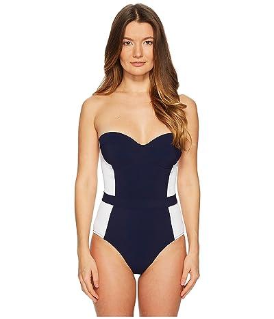 Tory Burch Swimwear Lipsi One-Piece (Tory Navy/White) Women