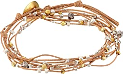 Chan Luu - Gold Mix/Beige Double Wrap Bracelet